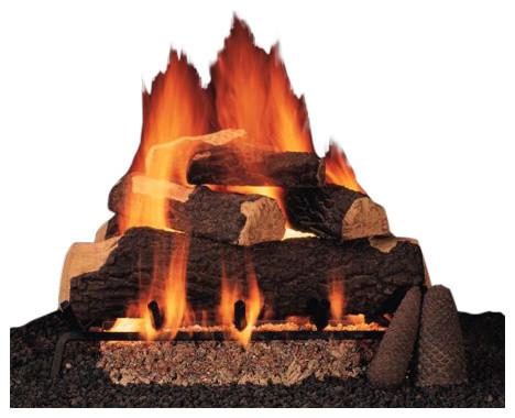"30"" Sumerset Blaze Logs, Single Manual Safety Pilot Burner Tube, Natural Gas"