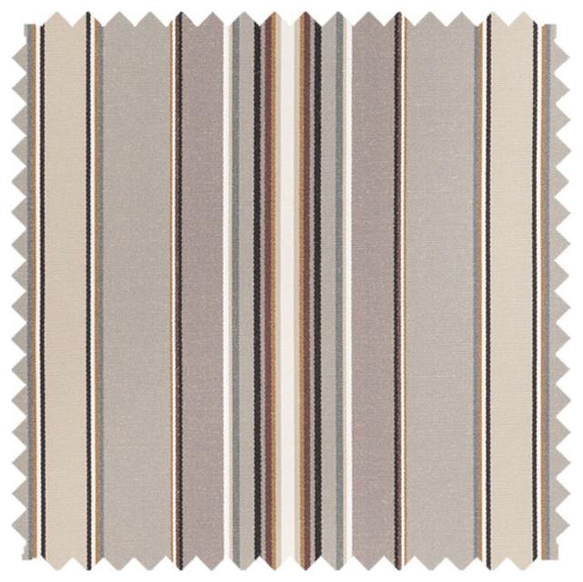 Deluxe Roman Shades Plain Fold, 27wx64h Harrison Stripe Graphite.