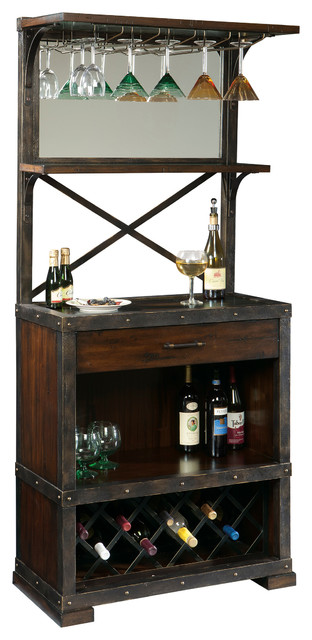 Red Mountain Wine and Bar Cabinet - Industrial - Wine And Bar Cabinets - by Howard Miller