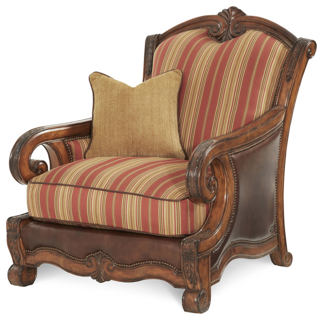 Tuscano Leather And Fabric Chair