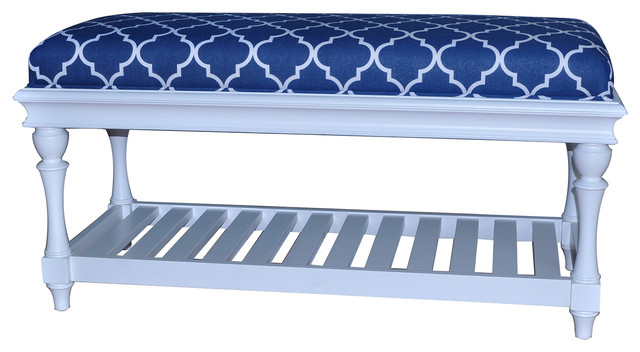 Accent Bench in Atlantic Blue And White