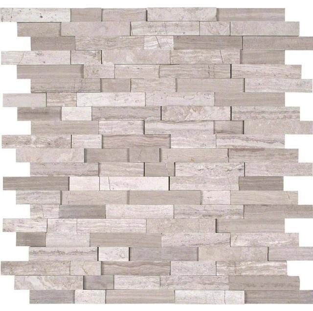 Shop Houzzshadesofstone 12x12 White Quarry Splitface