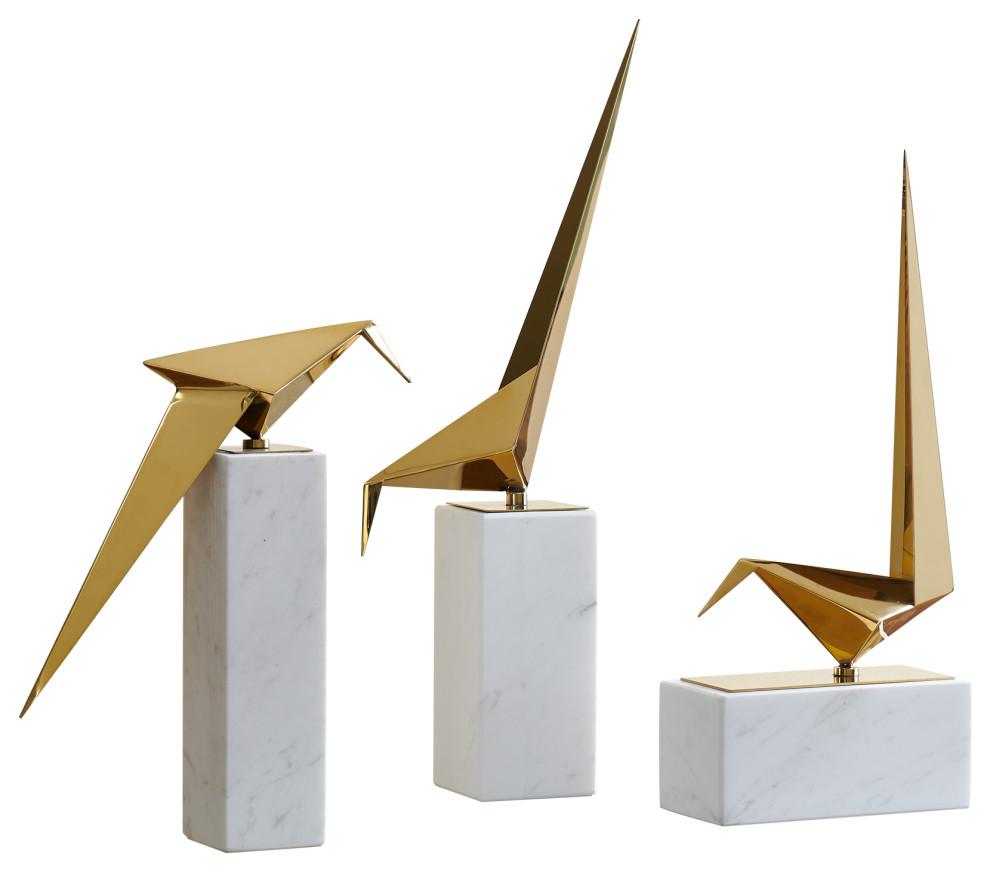 Finesse Decor Origami Birds Marble Set