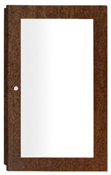 Ronbow 618218 Contemporary Solid Wood Framed Medicine Cabinet, Vintage Walnut.