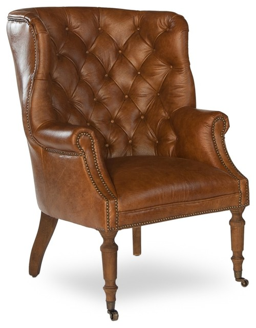 Welsh Leather Chair Traditional Armchairs And Accent