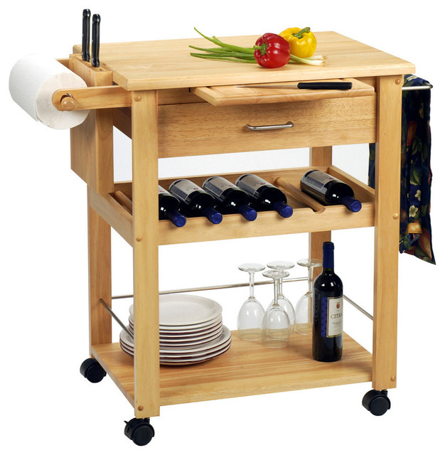 Winsome Wood Deluxe Kitchen Cart In Beech