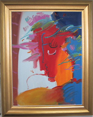 """Peter Max """"Profile"""" Painting"""