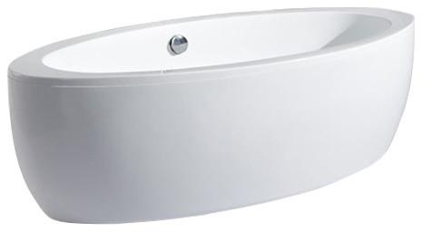 "Cardea Acrylic Modern Freestanding Soaking Bathtub 73""."