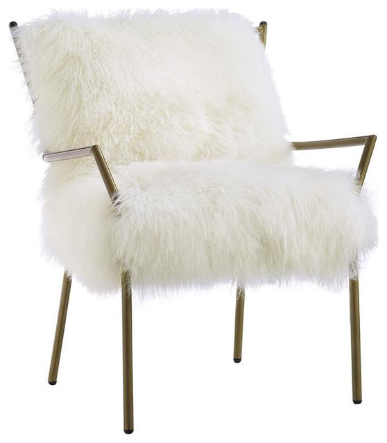 Lena Sheepskin Chair, White