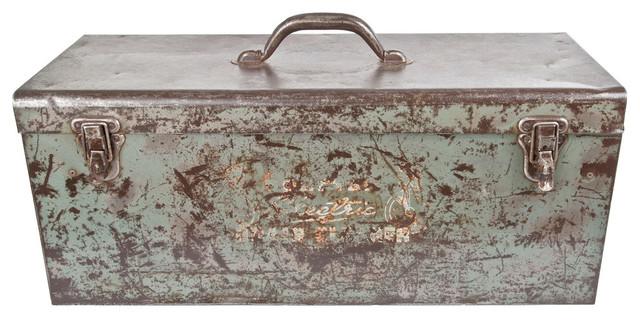 Consigned Vintage Refurbished Tool Storage Box.