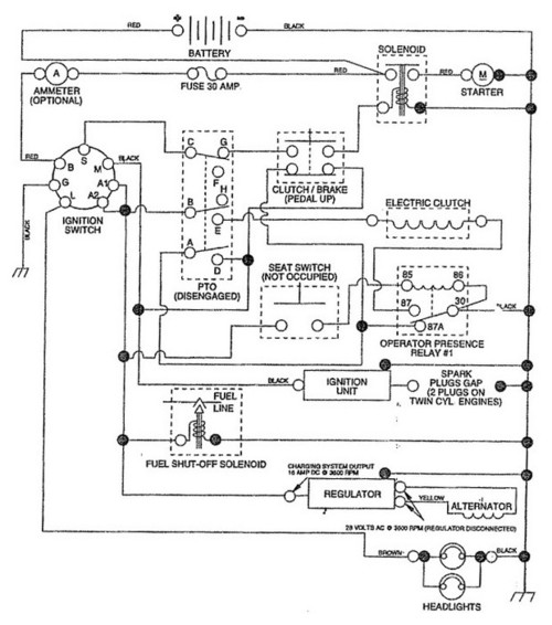 craftsman gt6000 electrical problem Wiring for Alternator Charging a Battery Cub Cadet Electrical Schematics