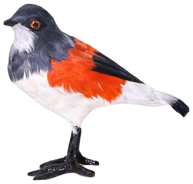 HOT Artificial Bird Realistic Hoopoe Statue Garden Decor Colorful HOT