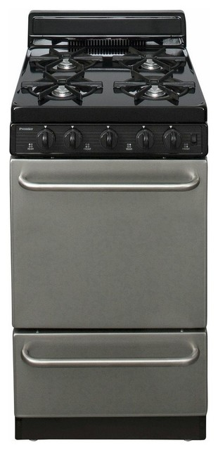 "Ada Compliant Stainless Steel 20"" Electronic Spark Gas Range."
