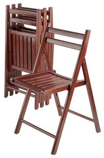 Robin 4-PC Folding Chair Set Walnut