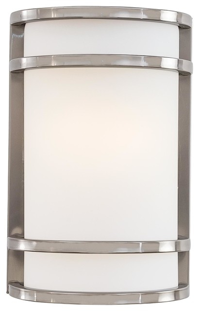 Minka Lavery Outdoor 9802 144 Bay View Brushed Stainless Steel Wall Sconce  Light Contemporary