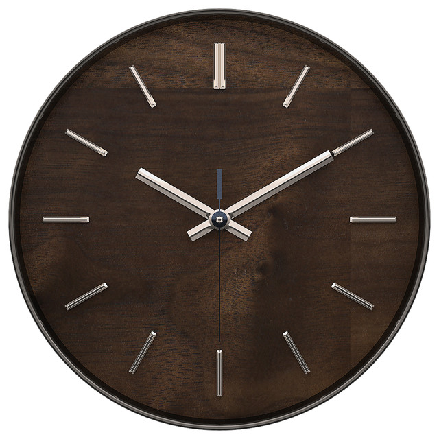 Hastings Walnut Wall Clock Wall Clocks By Artistic Products Llc