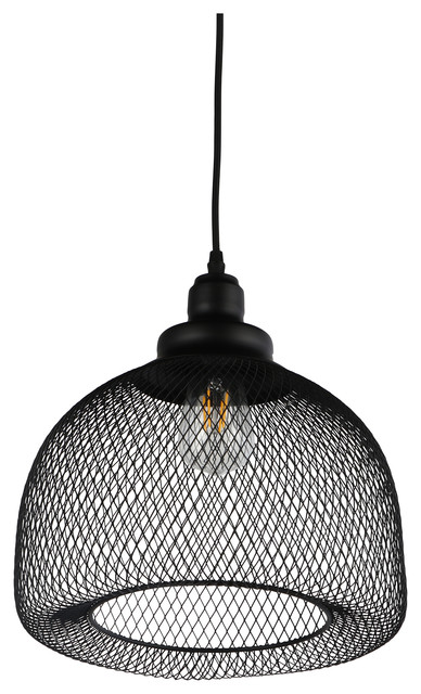"Esporre 1 Light Pendant, Black, 13""x13"""