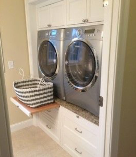 Is This Washer And Dryer Pull Out Shelf Genius