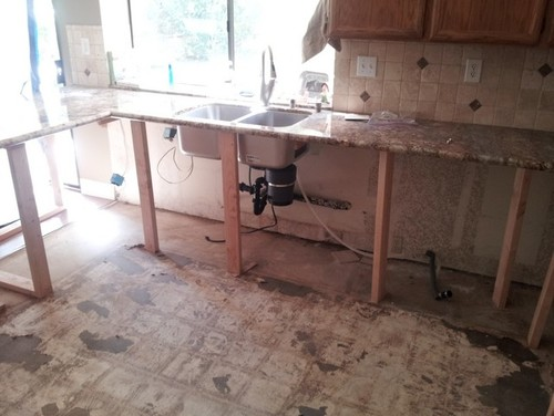Replacing cabinets while leaving granite for Remodel kitchen without replacing cabinets
