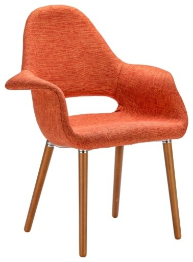 Poly And Bark Barclay Dining Chair, Orange, Set Of Two Midcentury Dining
