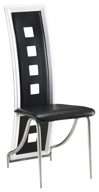 Global Furniture Usa 80c Dining Chair In Black With White Trim Set Of 2 Chairs By Beyond S