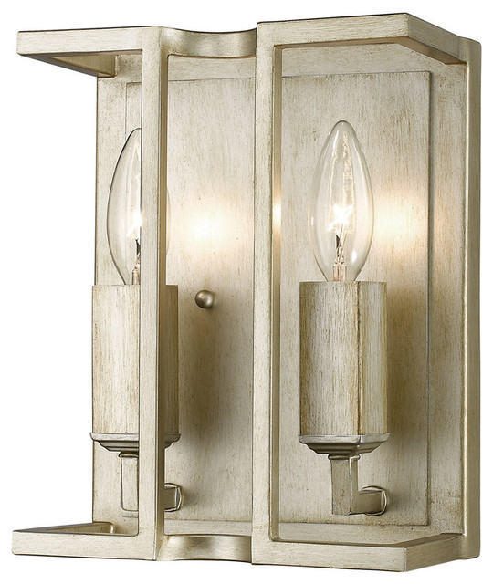 Wall Sconces Transitional : Golden Lighting 7151-WSC Bellare 2 Light Wall Sconce - Transitional - Wall Sconces - by Buildcom