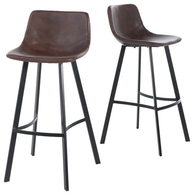 Gdfstudio Rex Bar Stools Set Of 2 View In Your Room Houzz