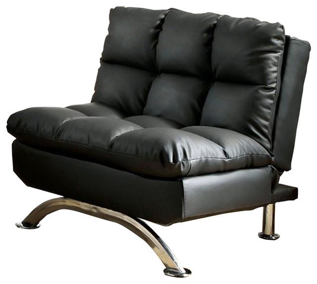Aristo Contemporary Aristo Single Sofa Chair With Leather Black ...