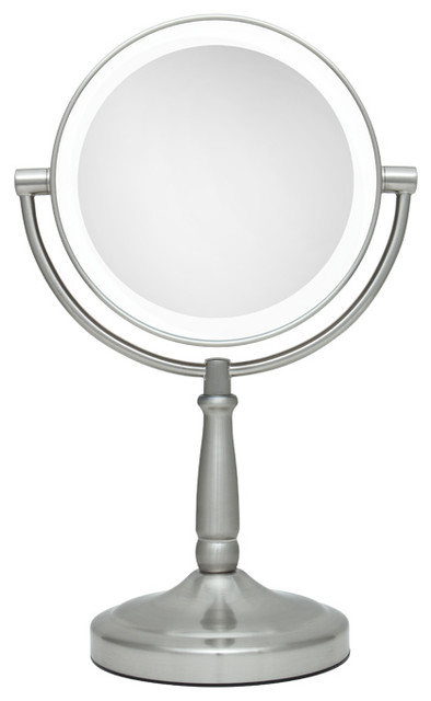 Zadro Led Lighted 1x 5x Round Vanity, Lighted Makeup Vanity Mirror Canada