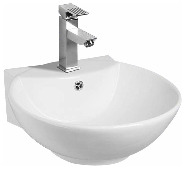 White Wall Mount Small Sink Easy Clean And Install Scratch And Stain  Resistant