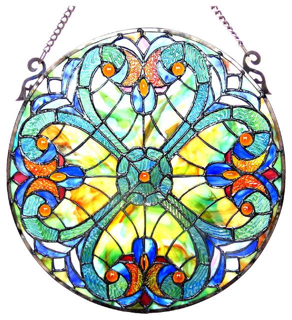 Liaison Tiffany Gl Victorian Window Panel 20