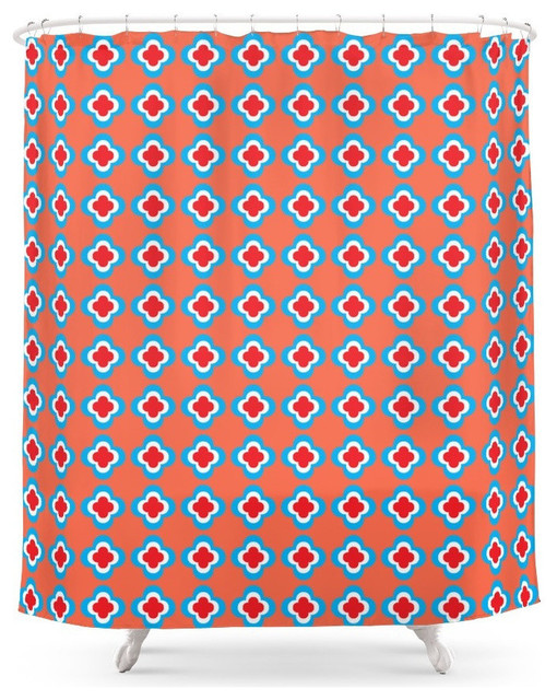 Turquoise C Shower Curtain