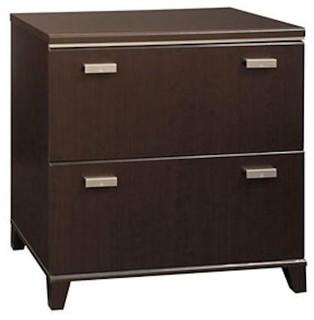 ... Wood File Storage Cabinet in Dark Mocha Cherry - Transitional - Filing