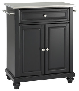 Cambridge Stainless Steel Top Portable Kitchen Island - Traditional - Kitchen Islands And ...