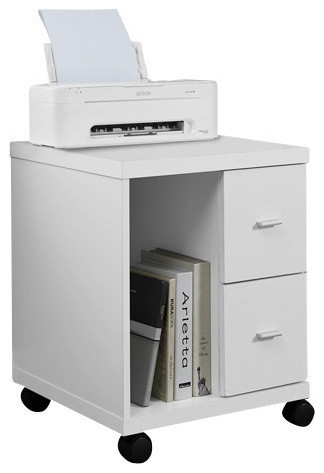 Pavel 2-Drawer Rolling Filing Cabinet - Contemporary - Filing Cabinets - by Monarch Specialties
