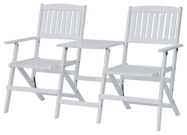 Jack And Jill Chairs, White Craftsman Outdoor Folding Chairs
