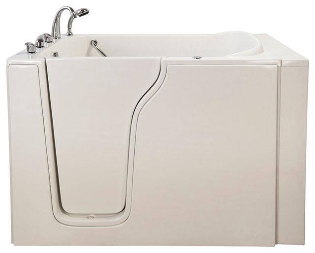 Bariatric 33 Dual Massage Walk-In Bathtub In White With Left Drain/door.