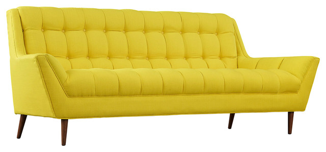 Modern Contemporary Fabric Sofa , Yellow, Fabric - Contemporary ...