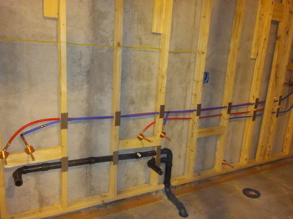 New Basement Water Pipes