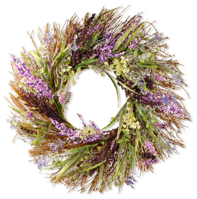 """22"""" Mixed Leaf Spring Wreath"""