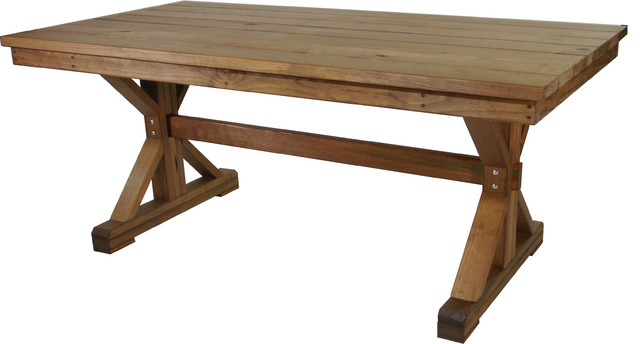 Outdoor X Frame Farmhouse Dining Table Farmhouse