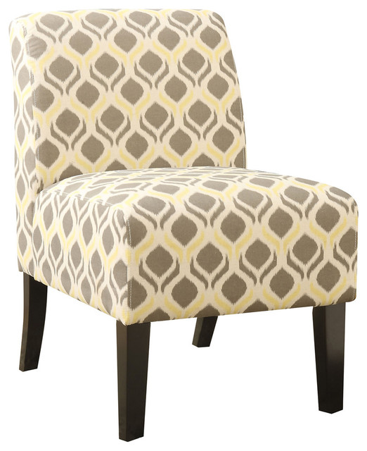 Excellent Acme Ollano Accent Chair Gray And Yellow Squirreltailoven Fun Painted Chair Ideas Images Squirreltailovenorg