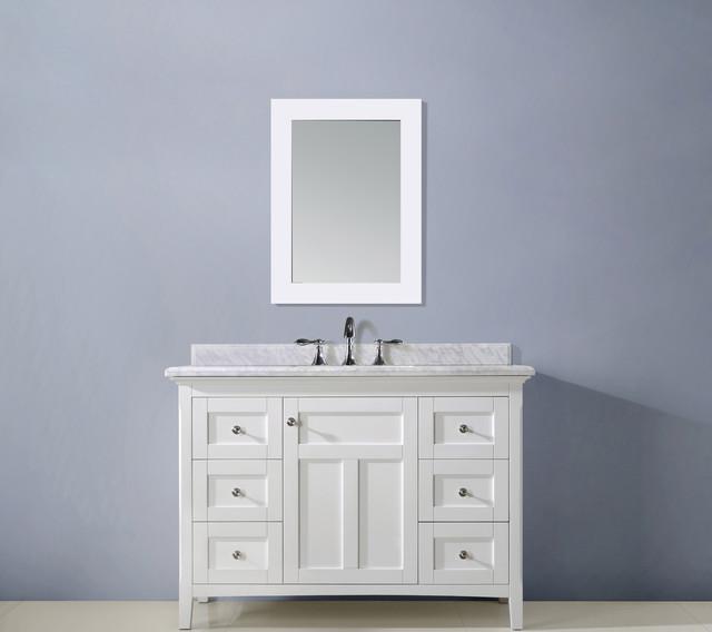 48 Kingston Bathroom Vanity White Traditional Bathroom Vanity Units Sink Cabinets