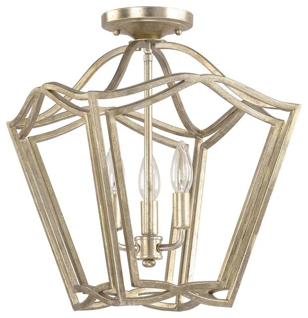 signature 3light foyer pendants in winter gold lighting - Capital Lighting