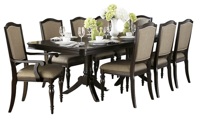 Homelegance Marston Double Pedestal Dining Table In Dark Espresso Dining  Tables