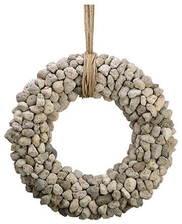 Silk Plants Direct Rock Wreath, Pack Of 1.
