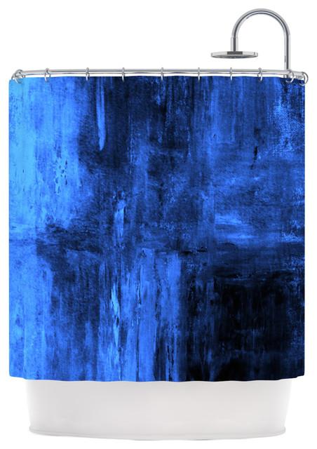 CarolLynn Tice Deep Sea Blue Shower Curtain