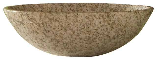 """Bancroft Granite Round Vessel Sink, 14""""."""