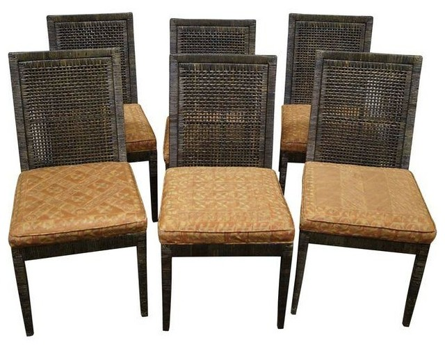 Wonderful McGuire Vintage Cane Dining Chairs   Set Of 6