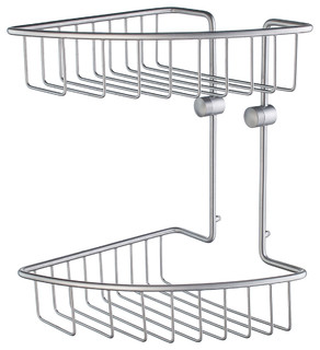 Home Corner Soap Basket Double Brushed Chrome
